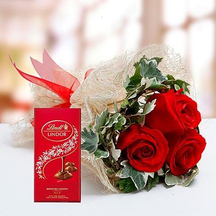 Birthday Flowers with Chocolates Online