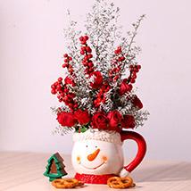 Ceramic Mug Flower Arrangement: Christmas Gift Ideas