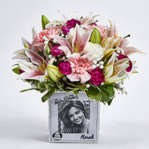 Personalised Vase Birthday Flowers: New Arrival Gifts